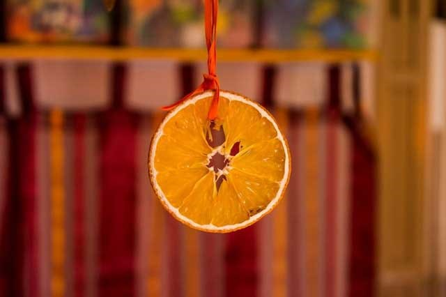 Dried fruit Christmas tree decoration
