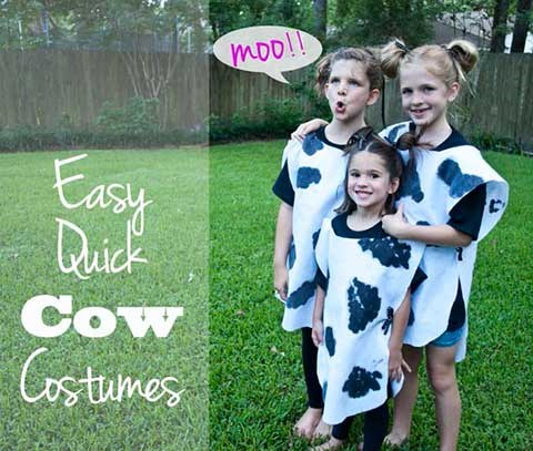 Homemade cow costume for kids