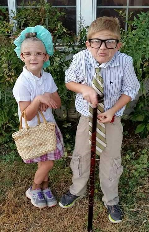 Great homemade grandparent costumes for kids