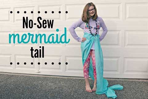 No sew mermaid tail costume for kids