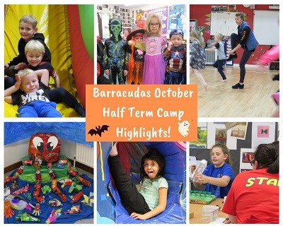 Great highlights from Barracudas October half term camp 2019